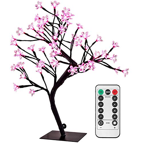 Cherry Tree With Pink Led Lights