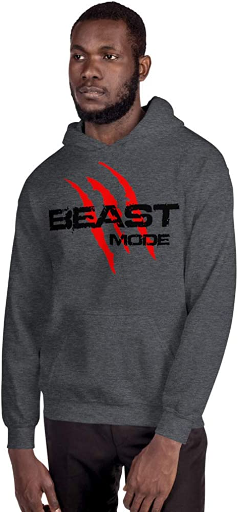 Beast Mode Red Claws Rip Shirt Workout Training Motivated Mindset Unisex Hoodie