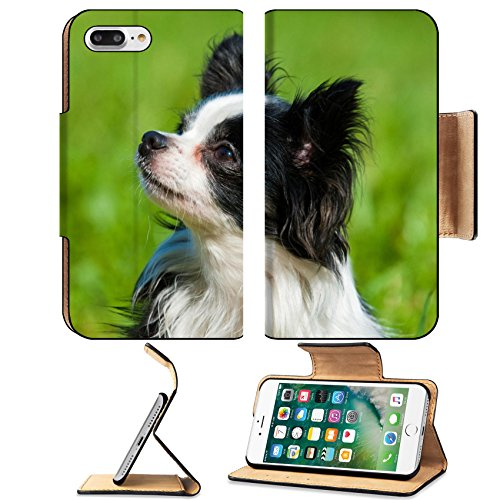Liili Premium Apple iPhone 7 Plus Flip Pu Leather Wallet Case Little chihuahua dog in a meadow iPhone7 Plus Image ID 21723541