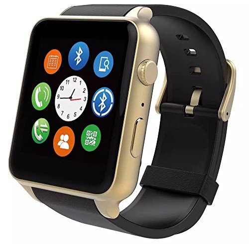 SMFR Waterproof GT88 NFC Bluetooth Smart Watch Phone Mate For iphone Android Silver (gold)