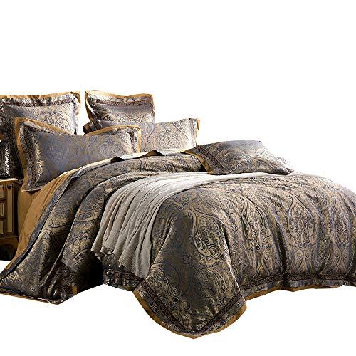 - MKXI Paisley Bedding European Royalty Duvet Cover Set Sateen Textile King Set,3 Pieces