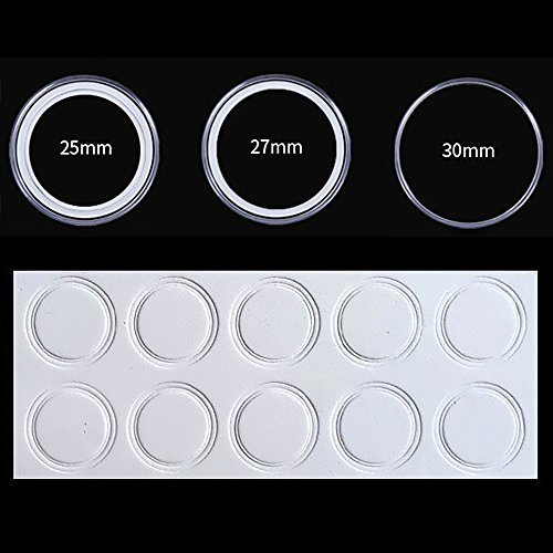 100 Counting Plastic Coin Capsules Round Coin Holder Case With Storage Organizer Box And EVA Gasket For Coin Collection Supplies, 30 MM By Shxstore by Shxstore (Image #2)