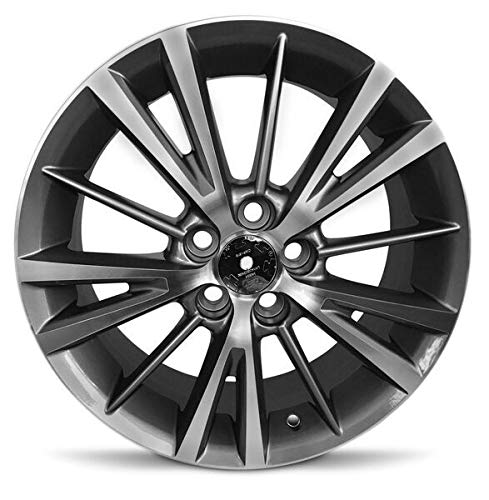 Road Ready Car Wheel For 2014-2019 Toyota Corolla 16 Inch 5 Lug Gray Aluminum Rim Fits R16 Tire - Exact OEM Replacement - Full-Size Spare (Toyota Corolla Rims 16)