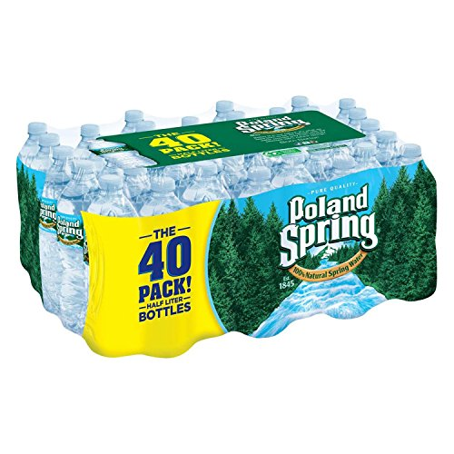 Poland Spring 100% Natural Spring Water (16.9 oz. bottles, 40 pk.) - Most Bottled Water
