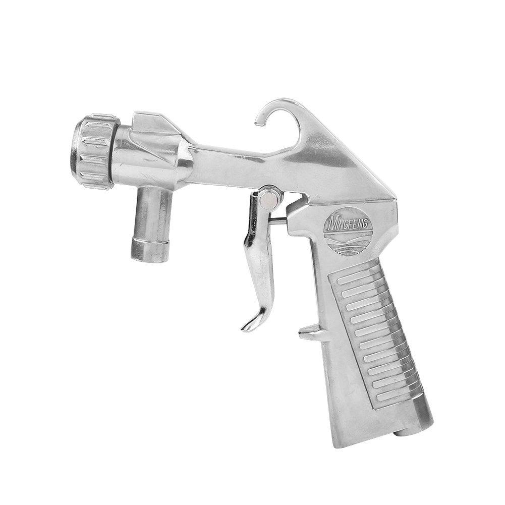Sandblaster Air Siphon Sand Blasting Gun with 4Pcs Ceramic Nozzles Kit, Abrasive Grit Shot Sandblaster Feed Blast Gun