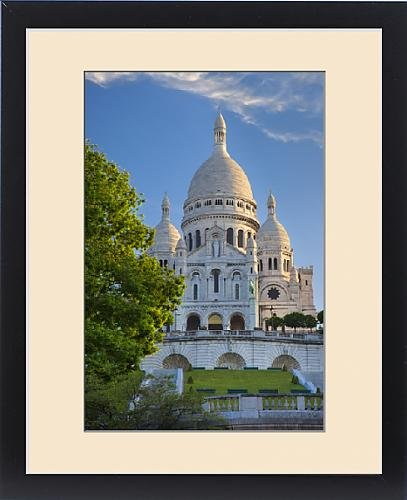 Framed Print of Early morning below Basilique du Sacre Coeur, Montmartre, Paris France by Fine Art Storehouse