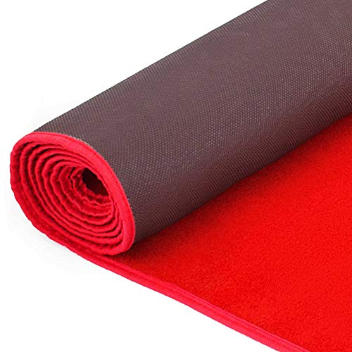 Happybuy 4Ft X 10Ft Large Red Carpet Runner Rug Solid TRP Rubber Backed Hollywood Runner Carpet Non-Slip Stair Patio Party Decor Wedding 1.2M X 3M Aisle Floor Runner Rug - Various Sizes (Red, 4x10Ft)