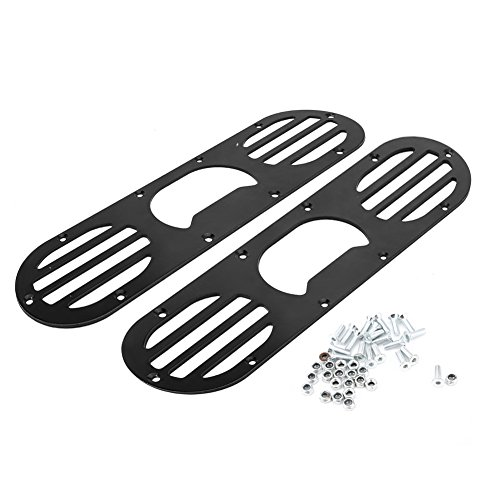 (2Pcs Universal Aluminum Alloy Rear Bumper Diffuser Panel Air Diversion Diffuser Panel for Car Race Black & Silver(Black))