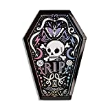Daydream Society Doomsday Coffin Halloween Paper Party Plates, Pack of 8