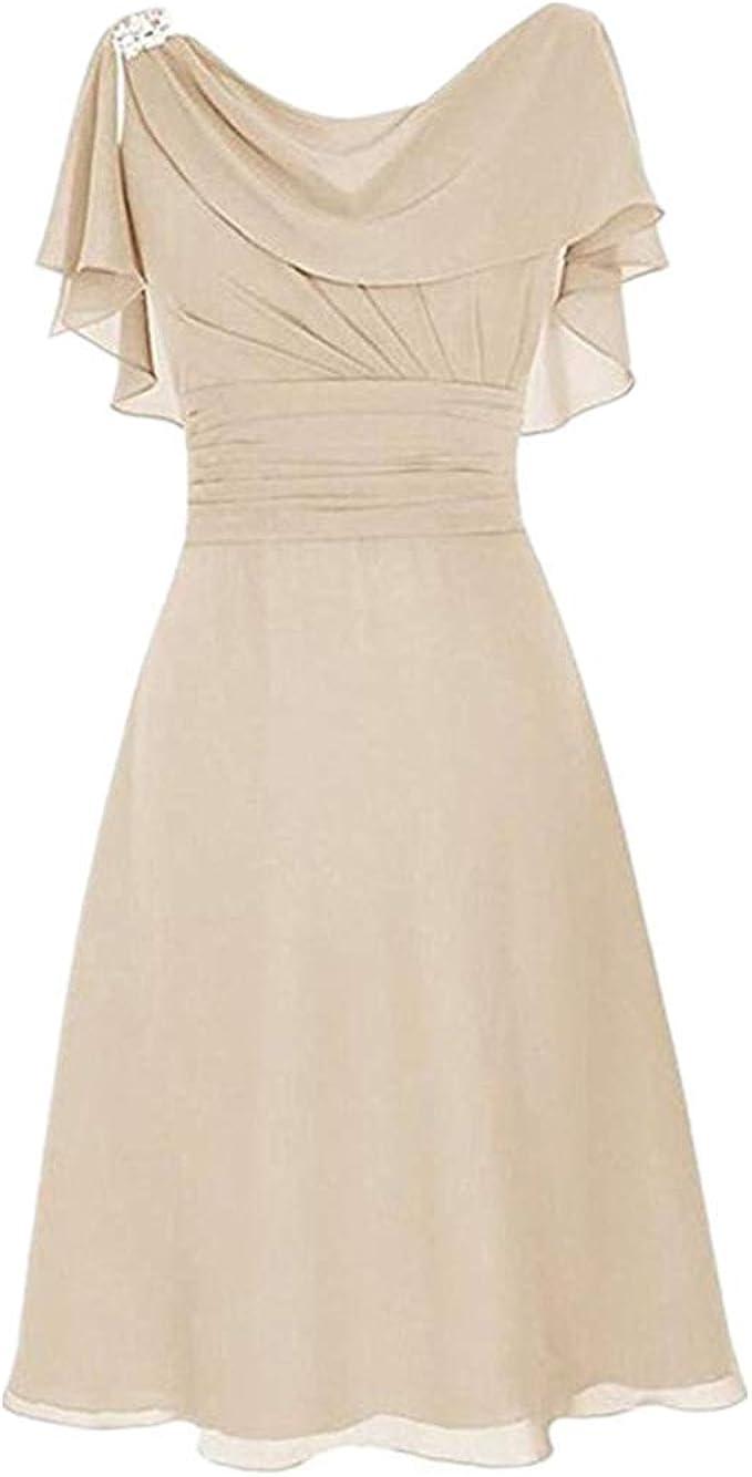 LOPILY Abendkleid Große Größen Damen Rüschen Kurzarm V-Ausschnitt Cocktail  Kleid Hohe Taillen Rückenfreies Kleid Übergrößen Festliche Kleider für
