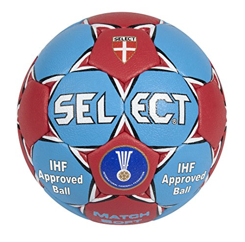 Select Women's Match Soft Handball, Blue/Red, Size 2