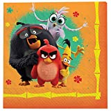 """Angry Birds"" Orange Luncheon Party Napkins, 6.5"" x 6.5"", 16"