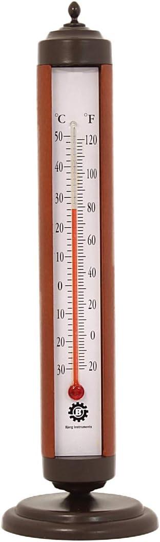 Bjerg Instruments Bronze Tube Indoor Desktop Thermometer