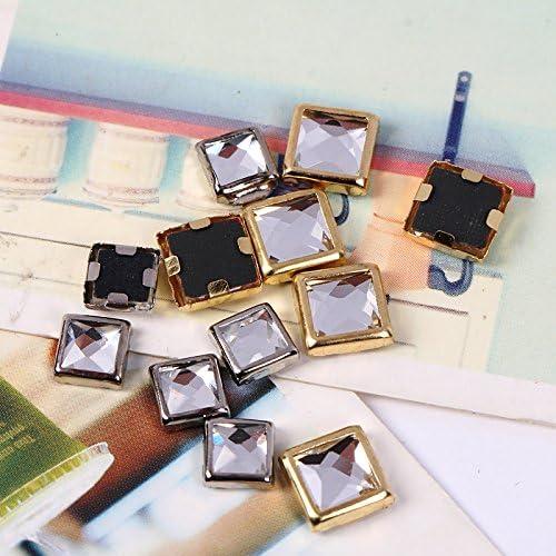 6mm // SS30 /100/piezas 6mm // SS30 Silver hierro en borde de diamante,/ 5/mm//SS20/oro borde con Crystal Rhinestone Hotfix