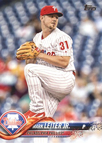 2018 Topps Baseball Series 2#573 Mark Leiter Jr. Philadelphia Phillies Official MLB Trading Card