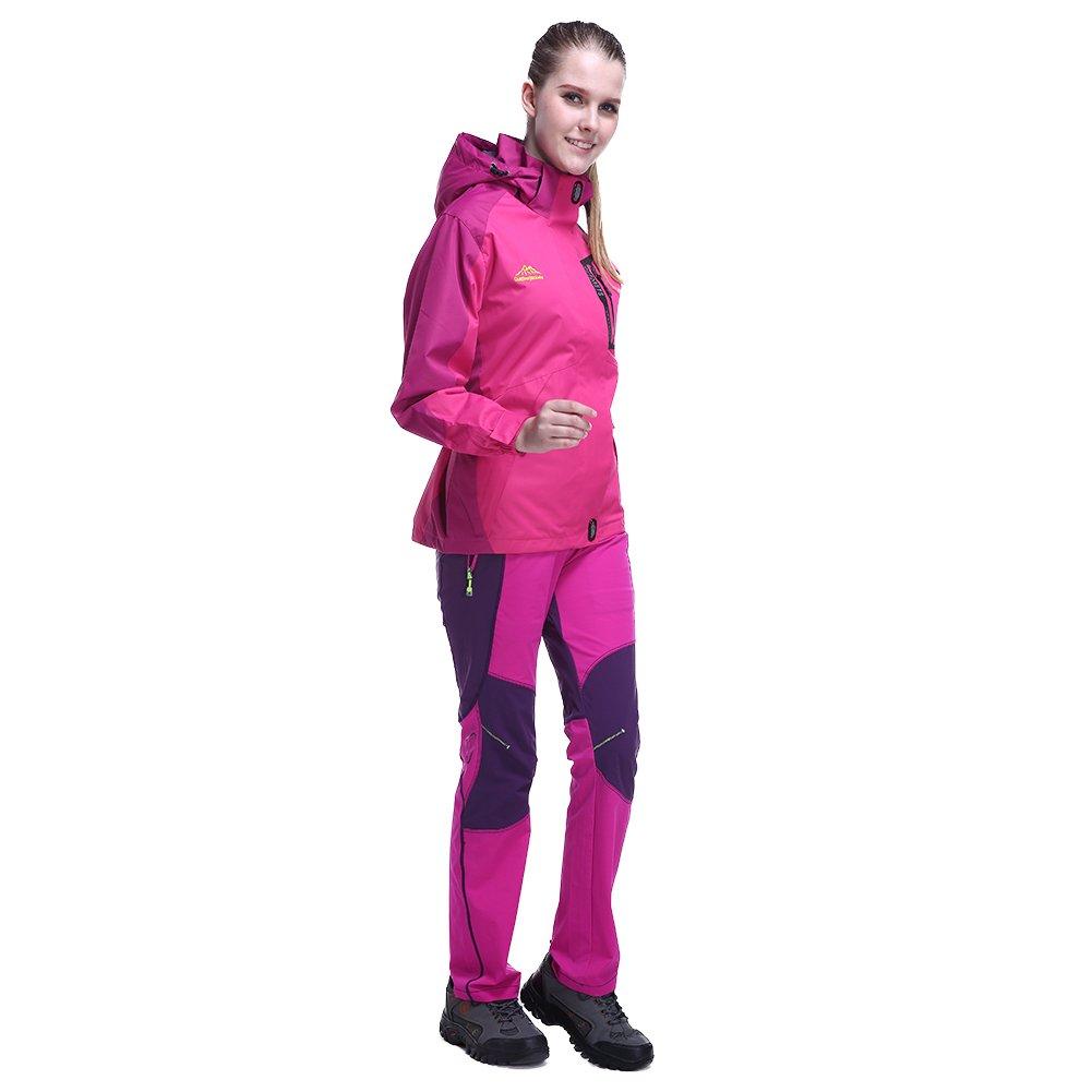 aa40e7815339c GITVIENAR Veste Randonnée Imperméable Softshell Coupe-Vent Manteau avec  Capuche Veste de Sport pour Femme: Amazon.fr: Sports et Loisirs