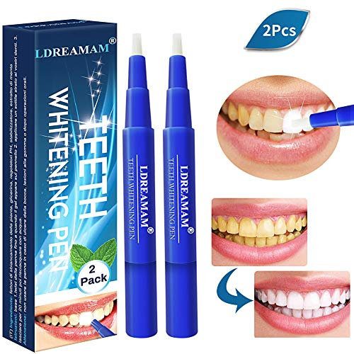 Teeth Whitening Pen,Natural Teeth Whitening Gel,Teeth Whitening Kit,Effective,Painless,Professionally Formulated & Smart Whitening,Beautiful White Smile,(2pc)