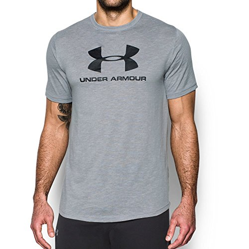 941 Natural - Under Armour Men's Sportstyle Branded T-Shirt, Overcast Gray (941)/Black, Large