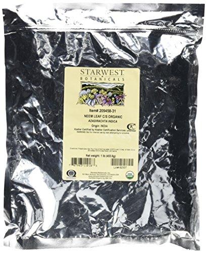 Starwest Botanicals Neem Leaf C/S Organic 1 lb.