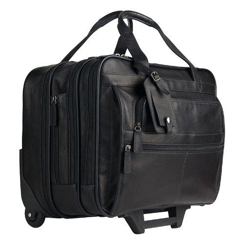 Breckenridge Sebastian Wheeled Laptop Case - Black