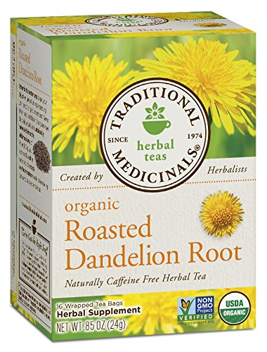 (Traditional Medicinals Organic Roasted Dandelion Root Herbal Leaf Tea, 16 Tea Bags (Pack of 6))
