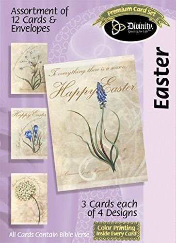 Divinity Boutique Greeting Card Assortment: Easter- Flowers (18026N)
