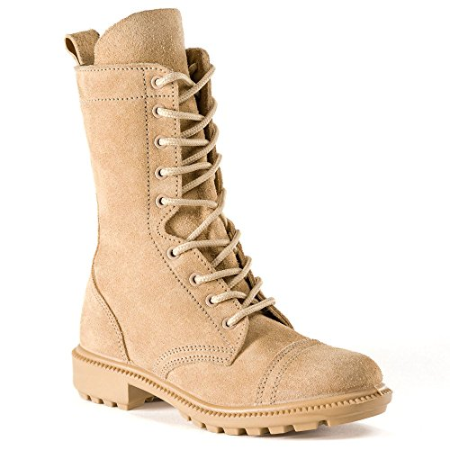 BURGAN 832 Desert Combat Boot - All Suede Leather with Side Zipper (Unisex) Casual Outdoor for Men and Women