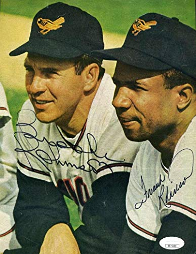 Frank Robinson Autographed Picture - BROOKS Coa 8x10 Authentic - JSA Certified - Autographed MLB Photos