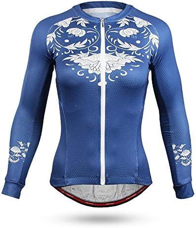 サイクルジャージ 夏のロードバイク乗馬スーツ長袖シャツ女性ロードバイク自転車服自転車機器通気性の快適さ 吸汗速乾高通気 (色 : A1, サイズ : S)