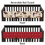 Sweet Jojo Designs Wild West Cowboy Western Long Front Rail Guard Baby Boy Teething Cover Protector Crib Wrap Reviews