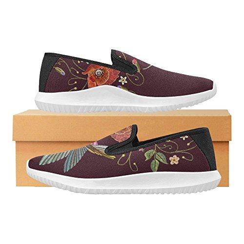 Interestprint Jeans Slip On Canvas Sneakers Para Mujer Humming Bird