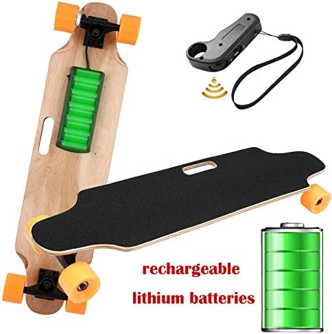 35.4 Electric Skateboard Electronic Longboard 20 KM H Top Speed, 250W Motor 7 Layers Maple E Skateboard with Wireless Remote Control Electirc Board for Adult Kids teens 220lbs Weight Capacity