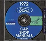 1972 FORD MERCURY LINCOLN PASSENGER CARS REPAIR SHOP & SERVICE MANUAL CD - All Models - 500, Galaxie, LTD, Torino, Gran Torino, Mustang, Thunderbird, Continental, Cougar, Marquis, Montego Monterey etc