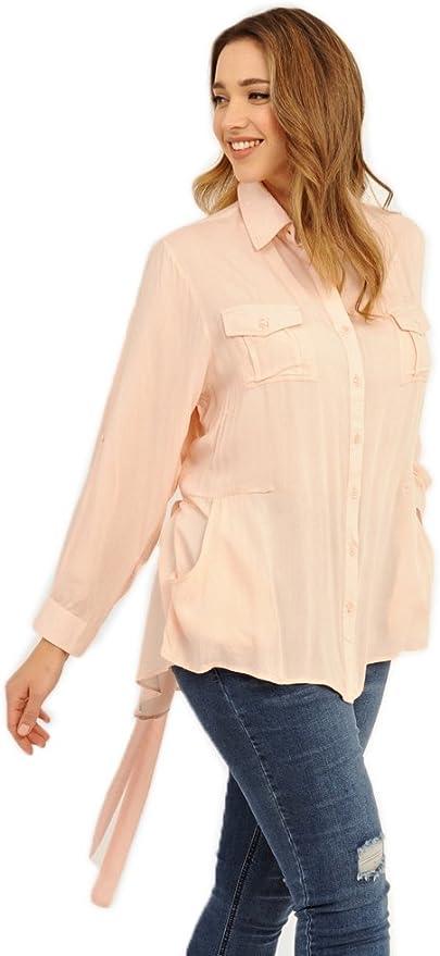 Koko Bolsillo Safari camisa Beige color carne 18: Amazon.es ...