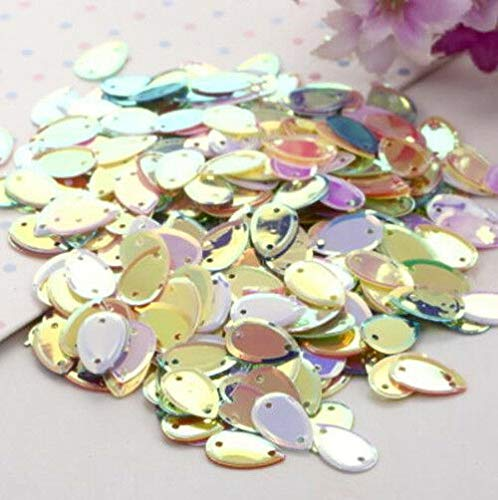 MOPOLIS 5g/20g Many Shape Sequins Paillette DIY Sewing Costume Bag Dress Decor Mix-Color | Color - Mix-Color Teardrop 5g ()