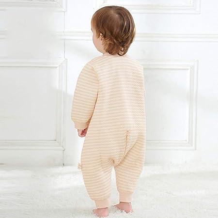 Saco de Dormir Acolchado de Algodón para Bebé ,Sacos de dormir de algodón de color para piernas, primavera y otoño cálido para niños antipatadas-marrón y blanco_100 yardas,Saco de Dormir para bebé Id: