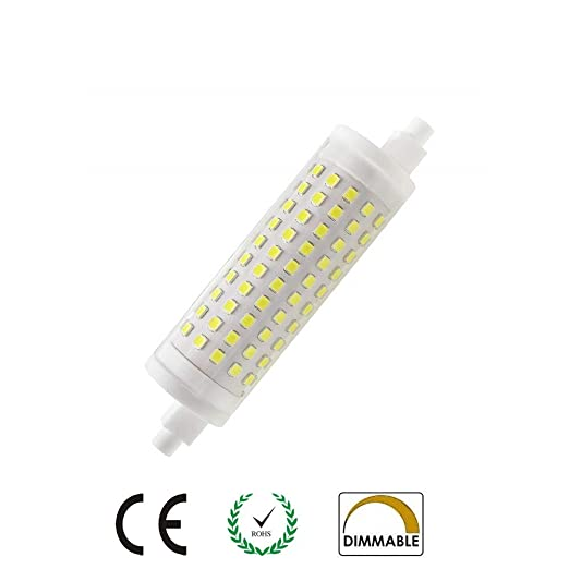 AscenLite R7s - Bombilla LED (15 W, J118, T3, 118 mm,