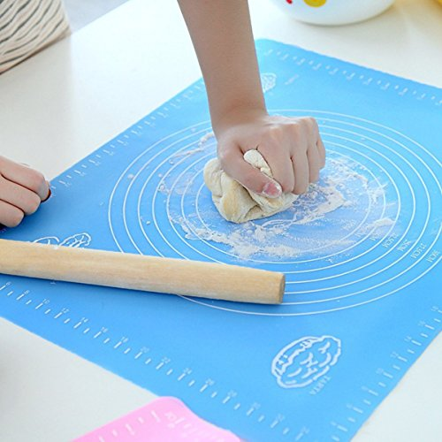 Silicone Baking Mat for Pastry Rolling with Measurements, Liner Heat Resistance Table Placemat Pad Pastry Board, Reusable Non-Stick Silicone Baking Mat for Housewife, Cooking (Pastry Mat)
