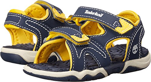(Timberland Kids Unisex Adventure Seeker 2 Strap Sandal (Toddler/Little Kid) Navy/Yellow 10 M US Toddler)