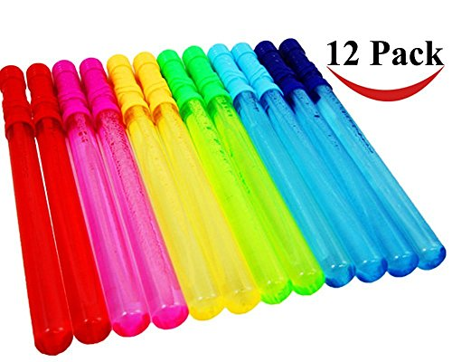 Lace Kenzola 12 Pack 14'' Big Bubble Wand Assortment (1 Dozen) - Super Value Pack of Summer Toy Party (Lightsaber Bubble Wand)