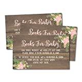 25 Oh Deer Books for Baby Request Insert Card for Girl Gold Baby Shower Invitations or invites, Buck Hunting Woodland Cute Bring A Book Instead of A Card Theme for Gender Party Story Games