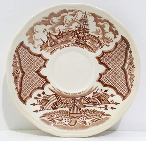 Alfred Meakin Brown Fair Winds Saucer Plate - Set of 4 ()