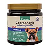 NaturVet Coprophagia Stool Eating Deterrent Plus Breath Aid for Dogs, 130 ct Time Release, Chewable Tablets, Made in USA
