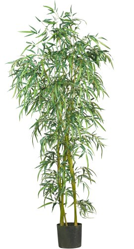 Nearly Natural 5193 Fancy Style Slim Bamboo Silk Tree, 6-Feet, Green by Nearly Natural