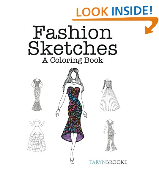 Fashion design sketch book amazon fashion sketches a coloring book fashion inspired adult coloring book sciox Image collections