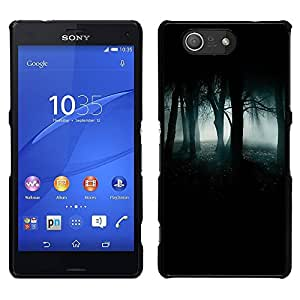 Stuss Case / Funda Carcasa protectora - Forest Green Mist Niebla Oscuro Spooky; - Sony Xperia Z3 Compact