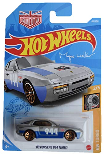 DieCast Hotwheels '89 Porsche 944 Turbo, Turbo 2/5 [Silver/Blue]