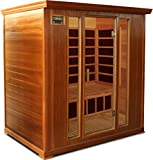 Crystal Sauna FWC400 4-Person Family Infrared Sauna in Red Cedar