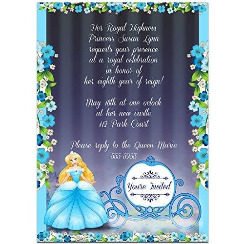 Fairy Tales Cinderella Birthday Party Invitations -
