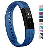 Fitness Tracker - 007plus D115 Concise Style Point Touch Activity Tracker (Blue)